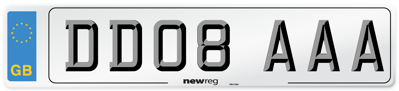 DD08 AAA Number Plate from New Reg