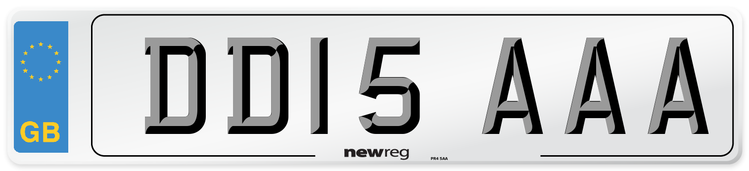 DD15 AAA Number Plate from New Reg