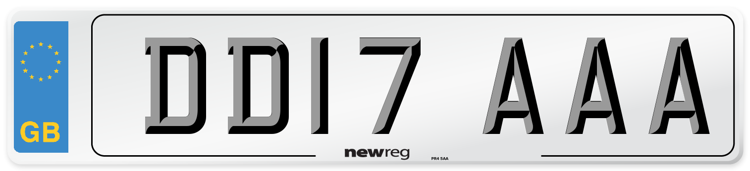 DD17 AAA Number Plate from New Reg