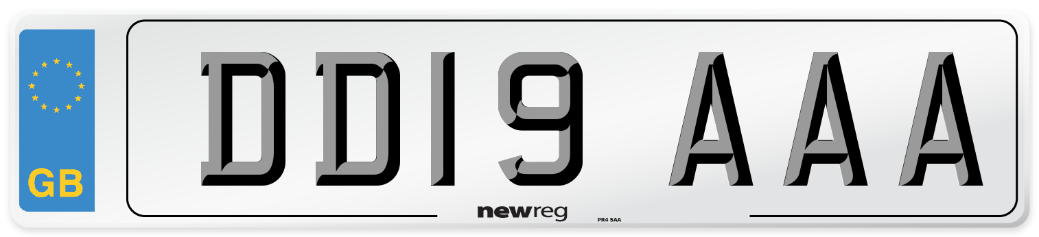DD19 AAA Number Plate from New Reg