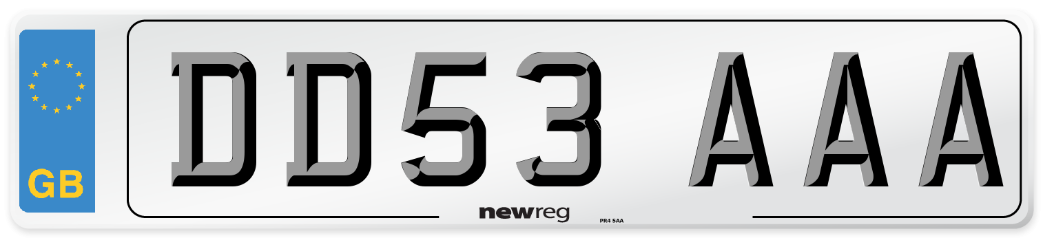 DD53 AAA Number Plate from New Reg