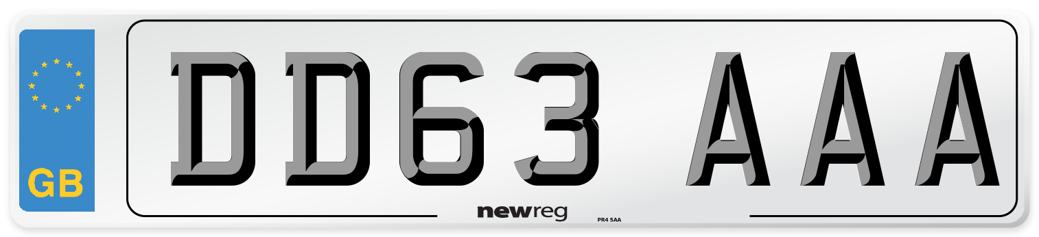 DD63 AAA Number Plate from New Reg