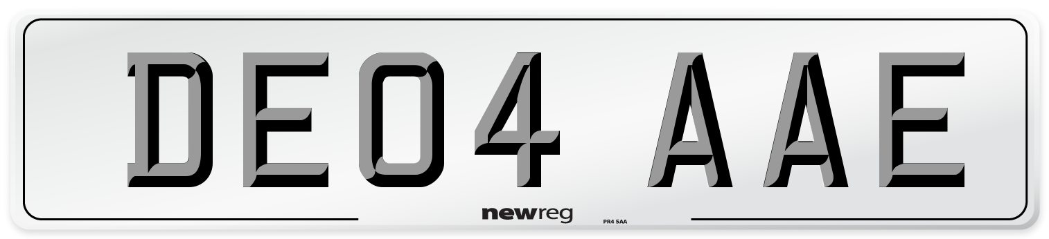 DE04 AAE Number Plate from New Reg
