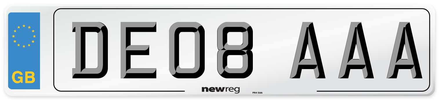 DE08 AAA Number Plate from New Reg