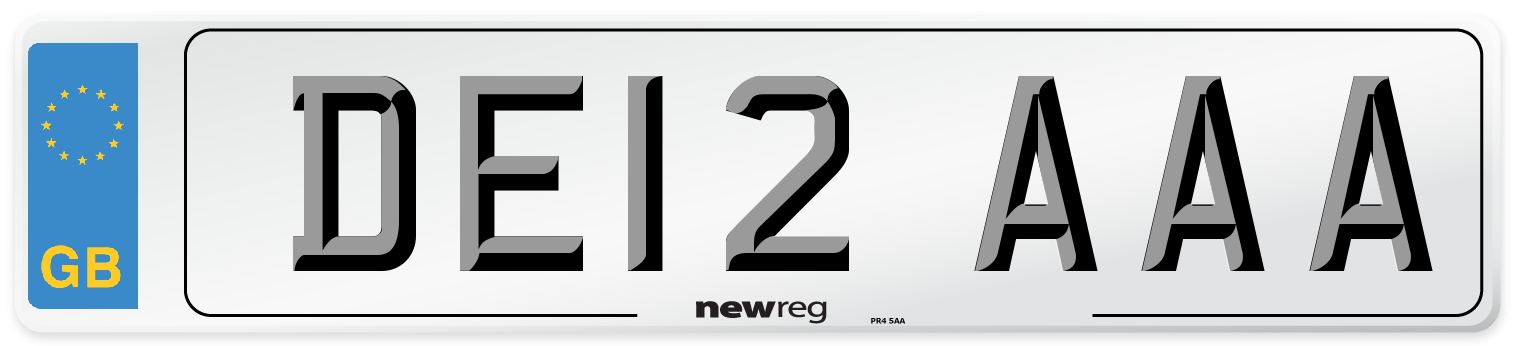DE12 AAA Number Plate from New Reg