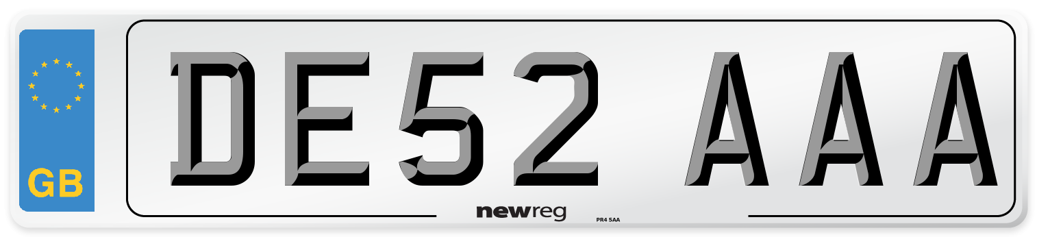 DE52 AAA Number Plate from New Reg