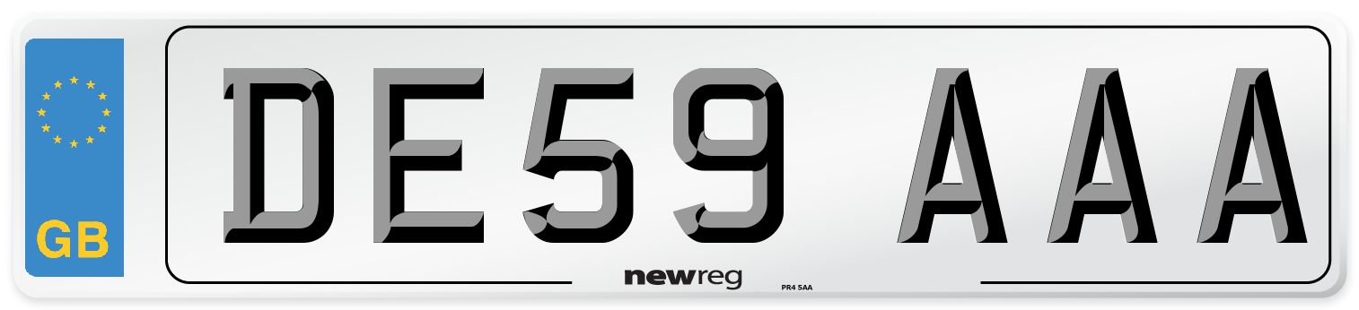 DE59 AAA Number Plate from New Reg