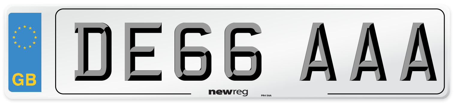 DE66 AAA Number Plate from New Reg