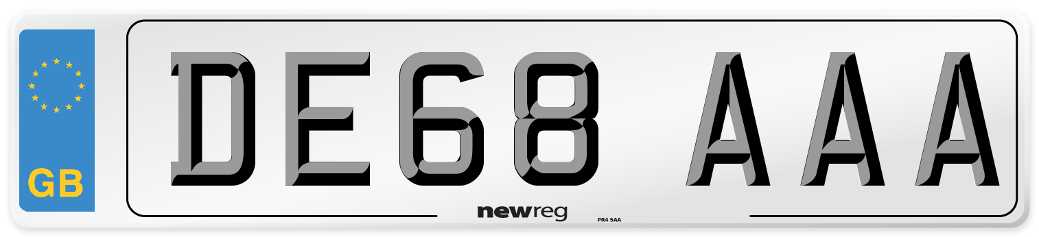 DE68 AAA Number Plate from New Reg