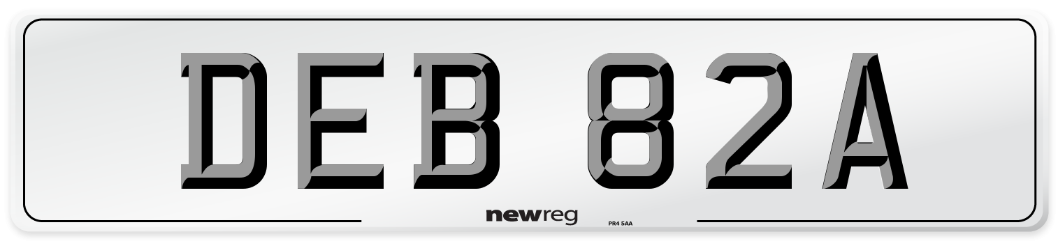 DEB 82A Number Plate from New Reg