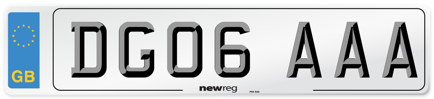 DG06 AAA Number Plate from New Reg