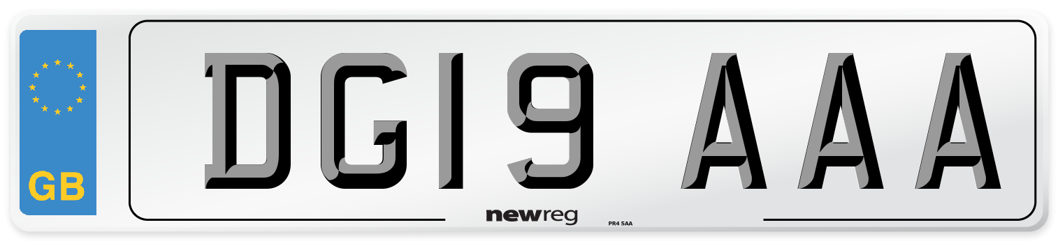 DG19 AAA Number Plate from New Reg