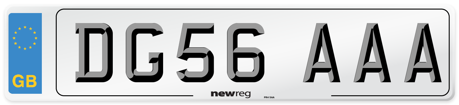 DG56 AAA Number Plate from New Reg