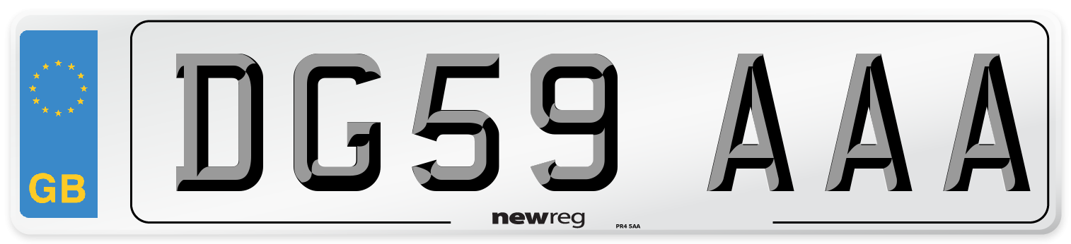 DG59 AAA Number Plate from New Reg