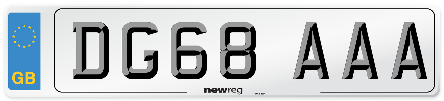 DG68 AAA Number Plate from New Reg