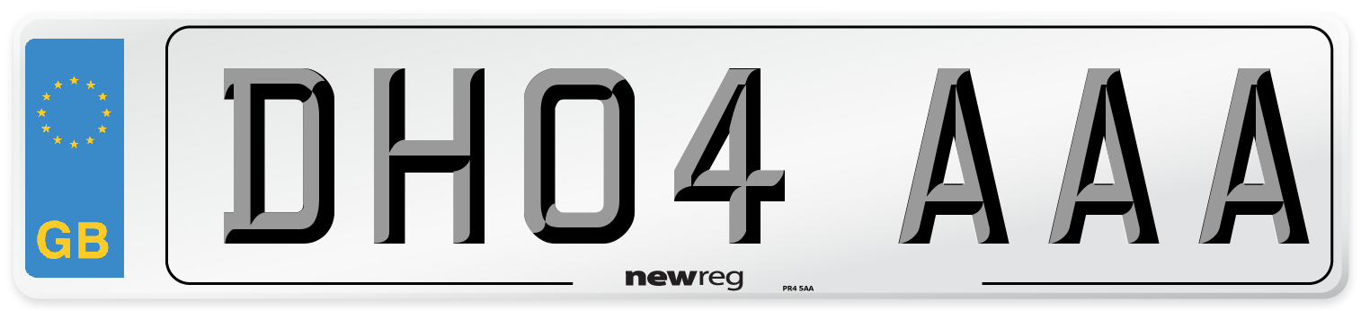 DH04 AAA Number Plate from New Reg