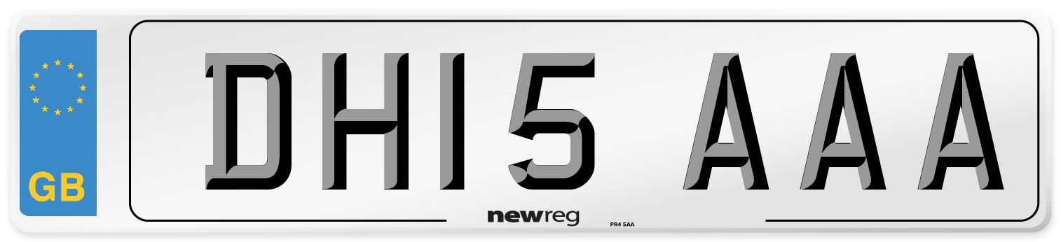 DH15 AAA Number Plate from New Reg