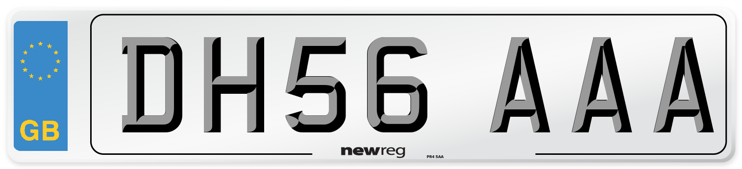 DH56 AAA Number Plate from New Reg