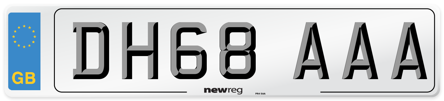 DH68 AAA Number Plate from New Reg