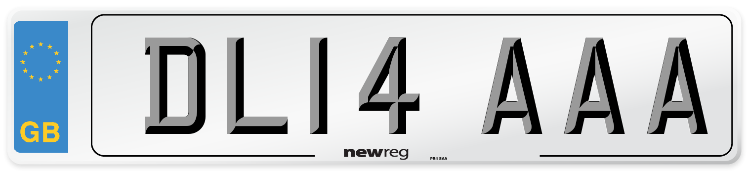 DL14 AAA Number Plate from New Reg