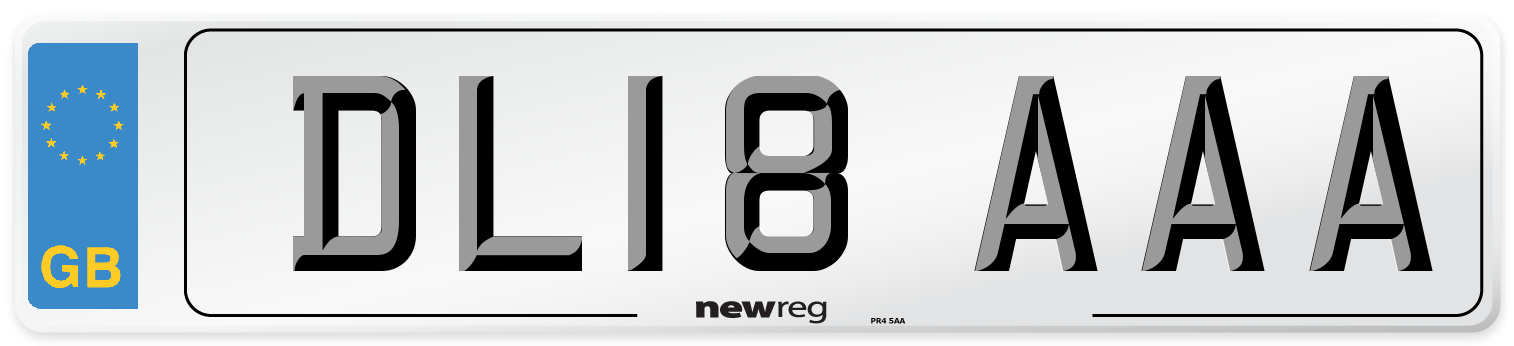 DL18 AAA Number Plate from New Reg