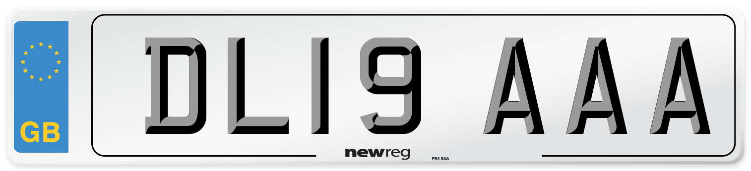 DL19 AAA Number Plate from New Reg