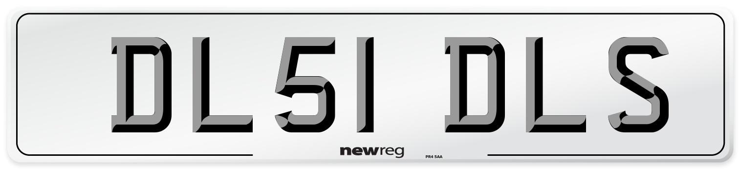 DL51 DLS Number Plate from New Reg