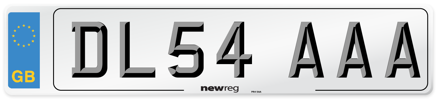 DL54 AAA Number Plate from New Reg