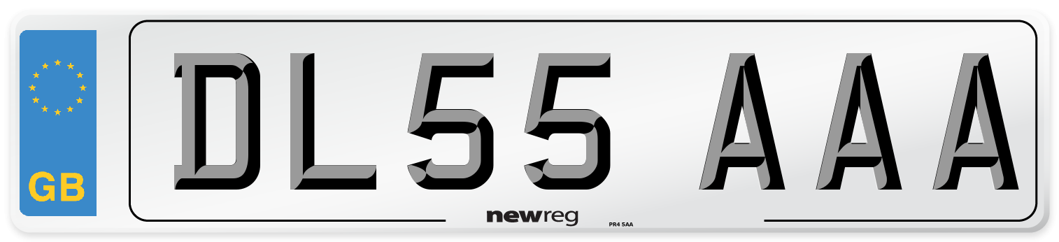 DL55 AAA Number Plate from New Reg