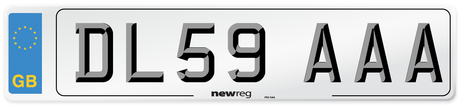 DL59 AAA Number Plate from New Reg