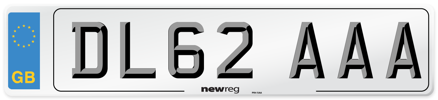 DL62 AAA Number Plate from New Reg