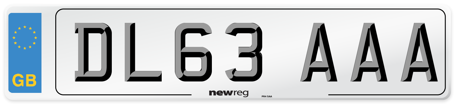 DL63 AAA Number Plate from New Reg