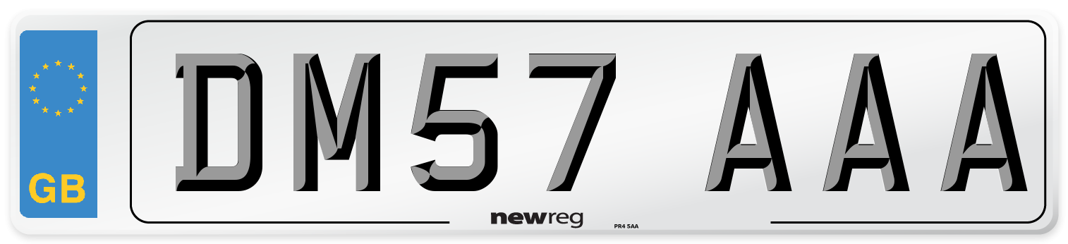 DM57 AAA Number Plate from New Reg
