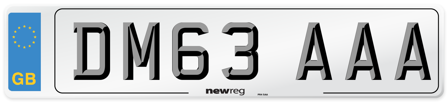 DM63 AAA Number Plate from New Reg
