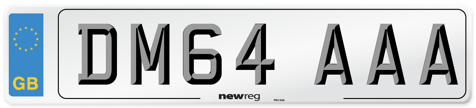 DM64 AAA Number Plate from New Reg