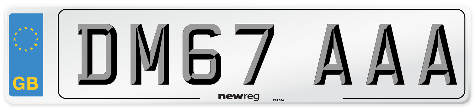 DM67 AAA Number Plate from New Reg