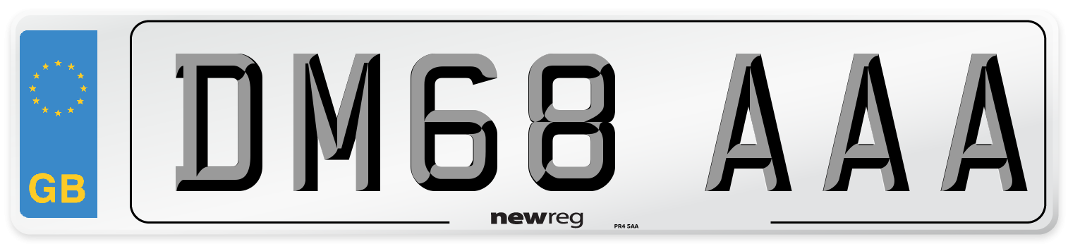 DM68 AAA Number Plate from New Reg