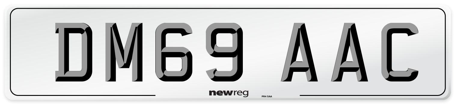 DM69 AAC Number Plate from New Reg