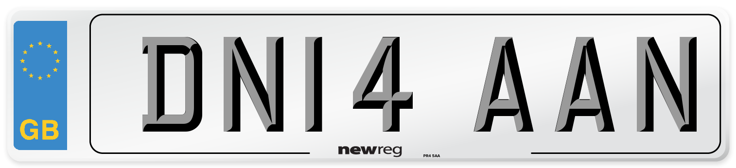 DN14 AAN Number Plate from New Reg