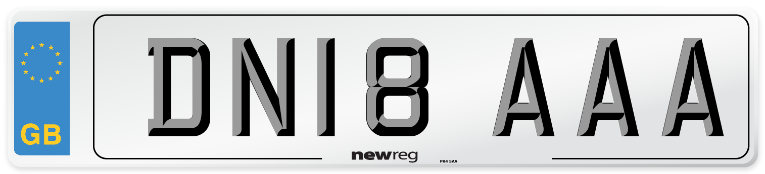 DN18 AAA Number Plate from New Reg