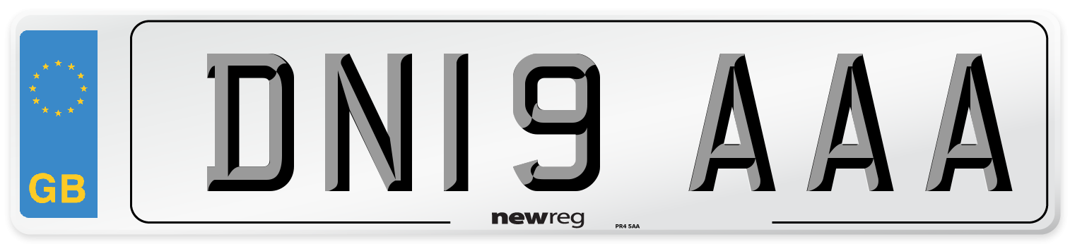 DN19 AAA Number Plate from New Reg