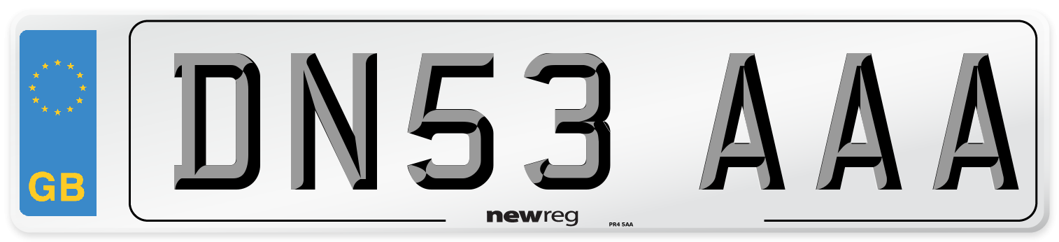 DN53 AAA Number Plate from New Reg