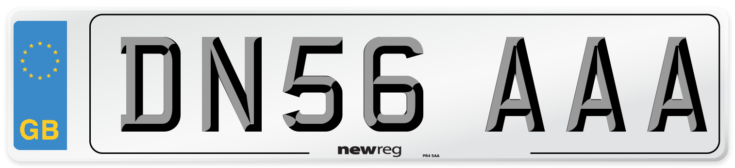 DN56 AAA Number Plate from New Reg