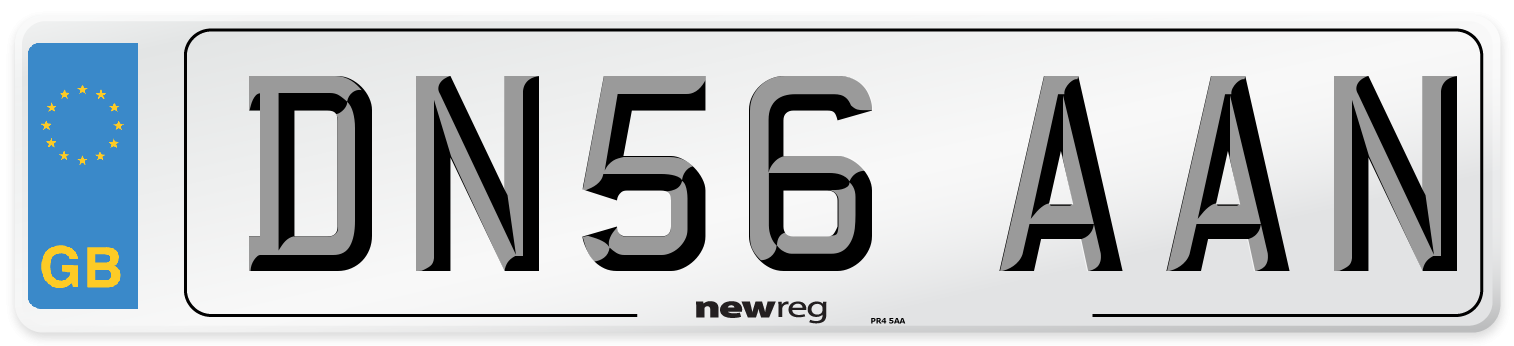 DN56 AAN Number Plate from New Reg