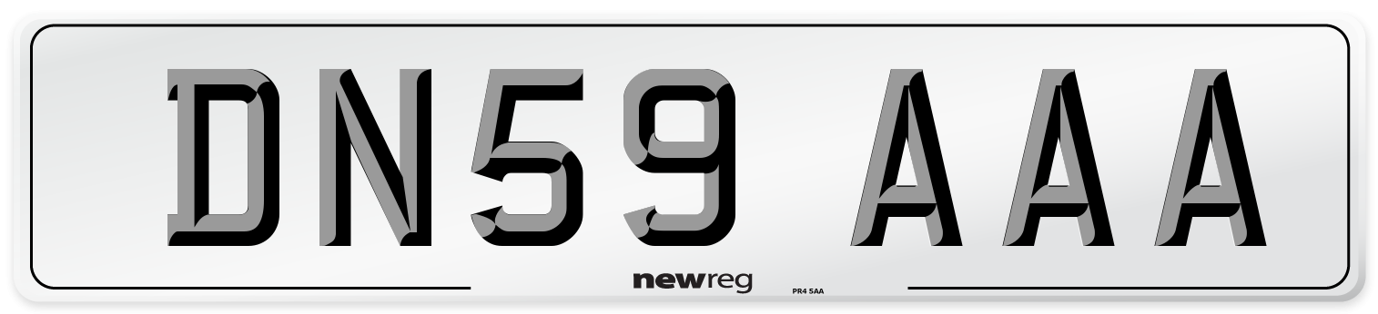 DN59 AAA Number Plate from New Reg