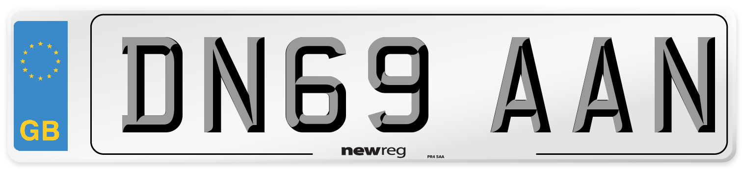 DN69 AAN Number Plate from New Reg