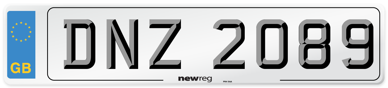 DNZ 2089 Number Plate from New Reg