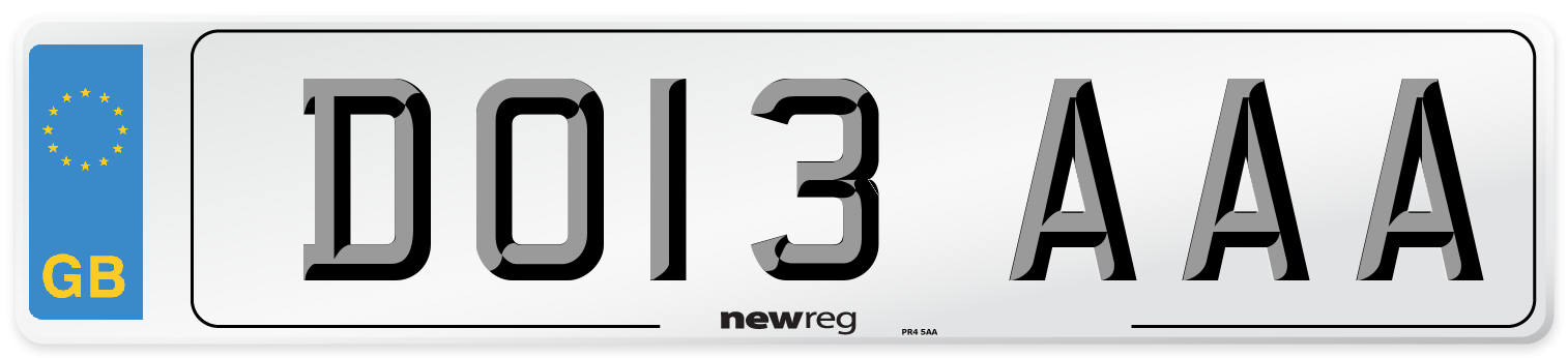 DO13 AAA Number Plate from New Reg