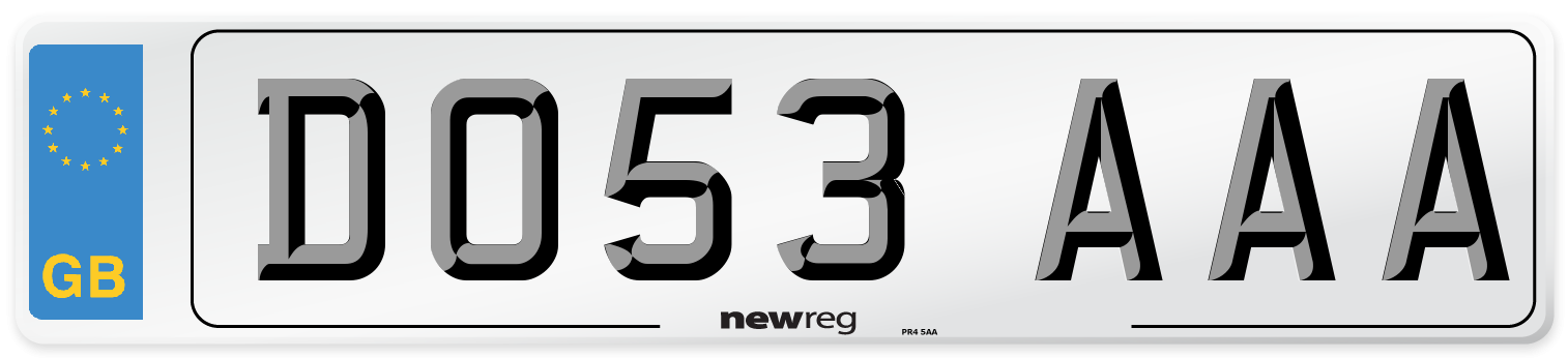 DO53 AAA Number Plate from New Reg