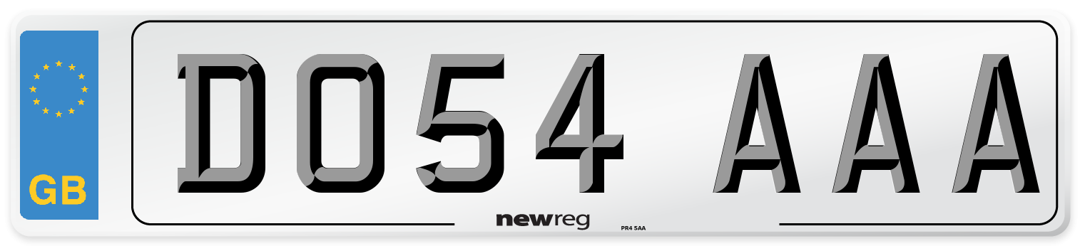 DO54 AAA Number Plate from New Reg